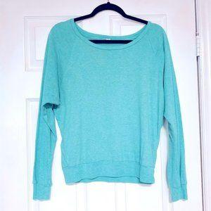 Aritzia TNA Blue Basic Scoop Neck Sweater